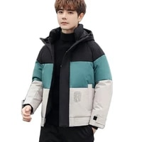 down coatmens winter down jacketnew winter mens down jacket hooded blazer zipper door pocket decorated with three colors 4