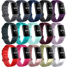 Breathable Bands For Fitbit Charge 4 Smart Watch Bracelet Soft TPU Wrist Band Watch Strap For Fitbit