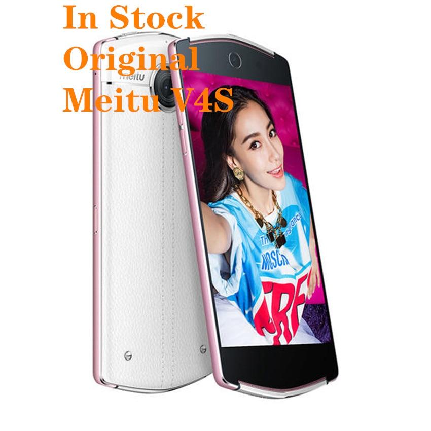 "Nuevo Original Meitu V4S Smartphone 5,0 ""Android 5,1 MTK6795 Octa Core 3GB RAM 128GB ROM 21.0MP + 21.0MP teléfono"