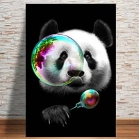 lovely panda canvas art posters and prints animals canvas paintings on the wall art cartoon pictures for kids room wall decor