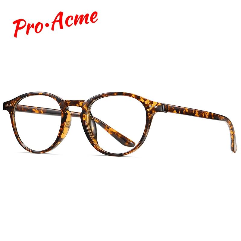 Montura ultraligera Flexible Pro Acme TR90, gafas de bloqueo de luz azul para mujer, monturas ópticas redondas para ordenador PC1707