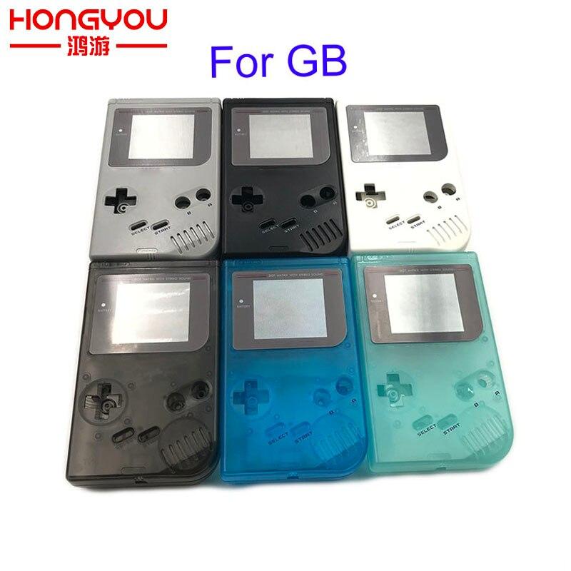 9 قطعة عالية الجودة الكلاسيكية الإسكان شل غلاف غلاف إصلاح أجزاء ل Gameboy GB لعبة وحدة التحكم ل GBO DMG مع أزرار