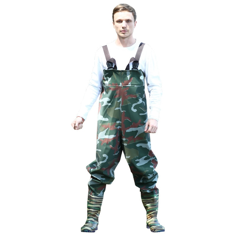 Outdoor Unisex Waterproof Hunting Fishing Jungle Camouflage 70 Silk Knit Cloth Wading Pant Under Water Trousers Rain Pants enlarge