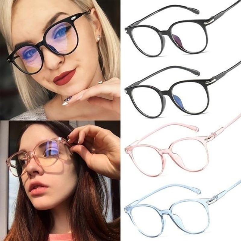 New transparent Arrow Plain glasses PC plain glass spectacles vintage eyeglass round frame glasses