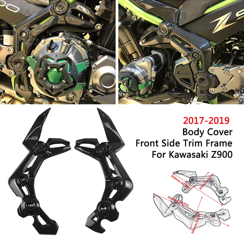 Motorcycle Accessories Front Side Frame Body Cover Panel Faring Side Trim For Kawasaki Z900 2017 18