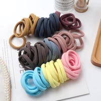 latest 50pcs girls solid color big rubber band ponytail holder gum headwear elastic hair bands girl hair accessories ornaments
