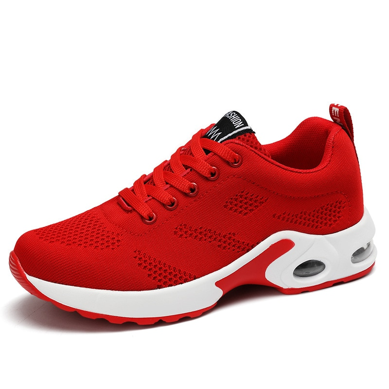 Seasons Arrival Big Size Women Walking  Shoes Flat Outdoor Antiskid Breathable Trekking Hunting Tourism Mountain Red Sneakers