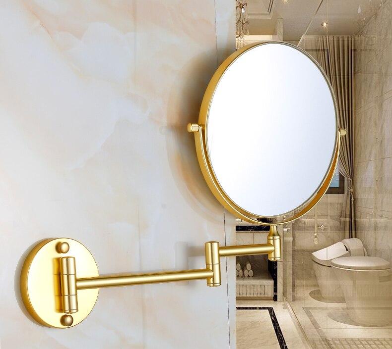 جدار 3 أضعاف مرآة في الحمام الزخرفية ماكياج مستديرة معلقة جدار المرآة البالونية الإبداع الموضة Miroir ديكور المنزل BC50JZ