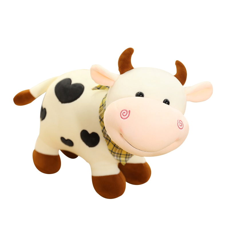 Nice 25cm/30/40cm New Plush Cow Toy Cute Cattle Plush Stuffed Animals Cattle Soft Doll Kids Toys Birthday Gift for Children  - buy with discount