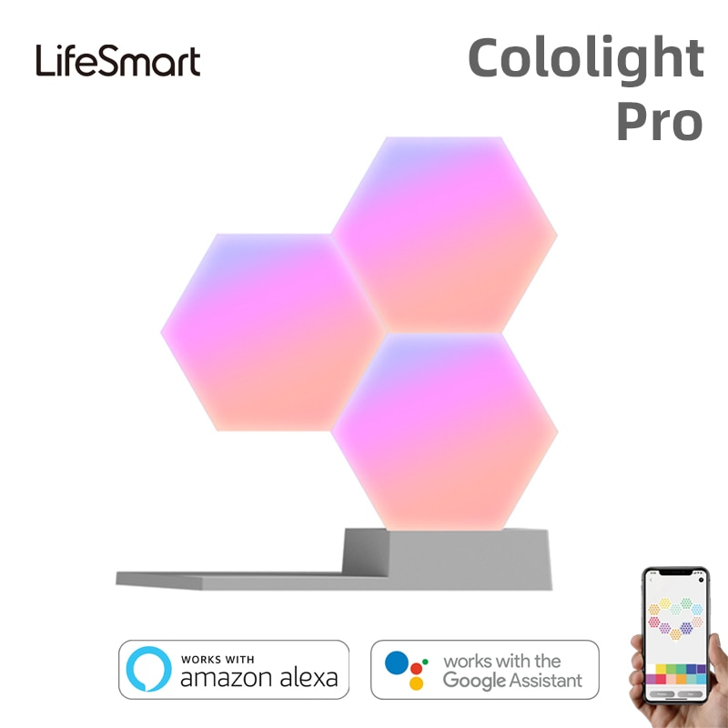 لوحات إضاءة ذكية RGB LED Cololight Pro لألعاب/ستوديو/إضاءة خلفية للحائط ديكور منزلي أداة هدية أليكسا جوجل مساعد السنة الجديدة Gif
