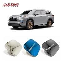 for toyota highlander 2021 2022 exterior accessories car fuel tank cap decoration sticker cover stainless steelabs 1 pcs