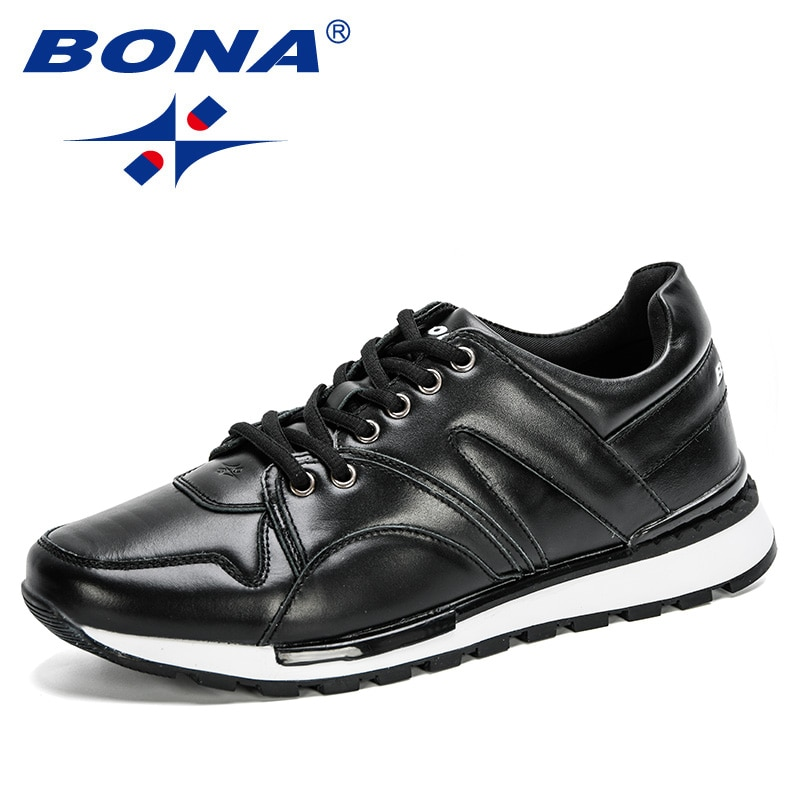 BONA-أحذية رياضية جلدية للرجال ، أحذية رياضية غير رسمية ، أحذية رياضية ، أحذية ترفيهية ، المشي في الهواء الطلق ، 2020