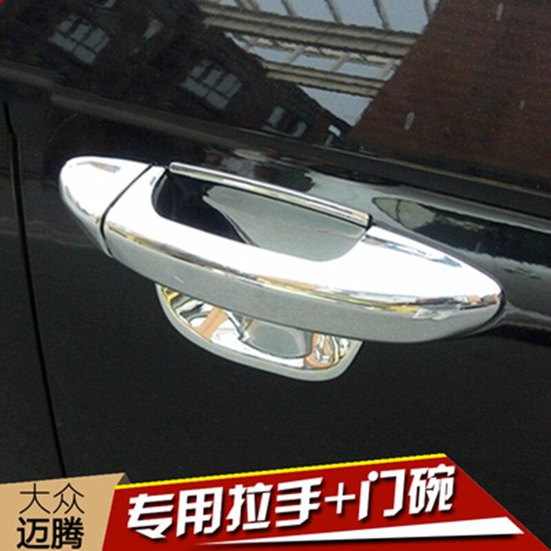 Accesorios de diseño de coches para Volkswagen PASSAT B6 B7L 3C 2006-2011 Passat CC 2009-2015 nuevo borde de cubierta de manija de puerta de coche ABS cromado