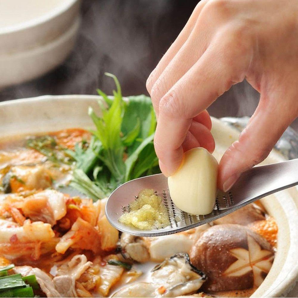 1PC przydatne imbir czosnek szlifowanie tarki łyżeczka do herbaty narzędzia kuchenne naczynia skrobaczka do skórki cytrynowej prasy do czosnku akcesoria kuchenne