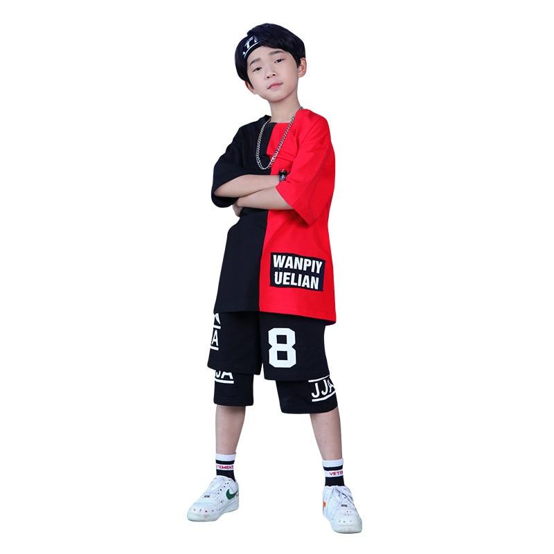Camiseta de hip hop para niño pantalones cortos de verano de talla...