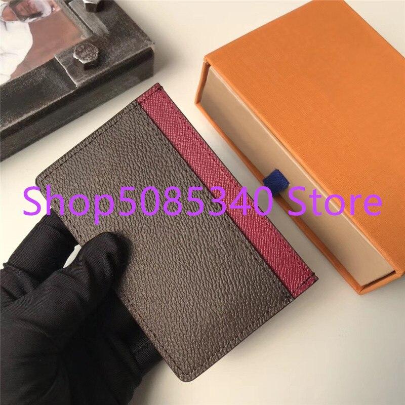 Qualidade superior clássico design de luxo homem/mulher moda titular do cartão de crédito cartão de crédito cartão de identificação titular do cartão de visita frete grátis