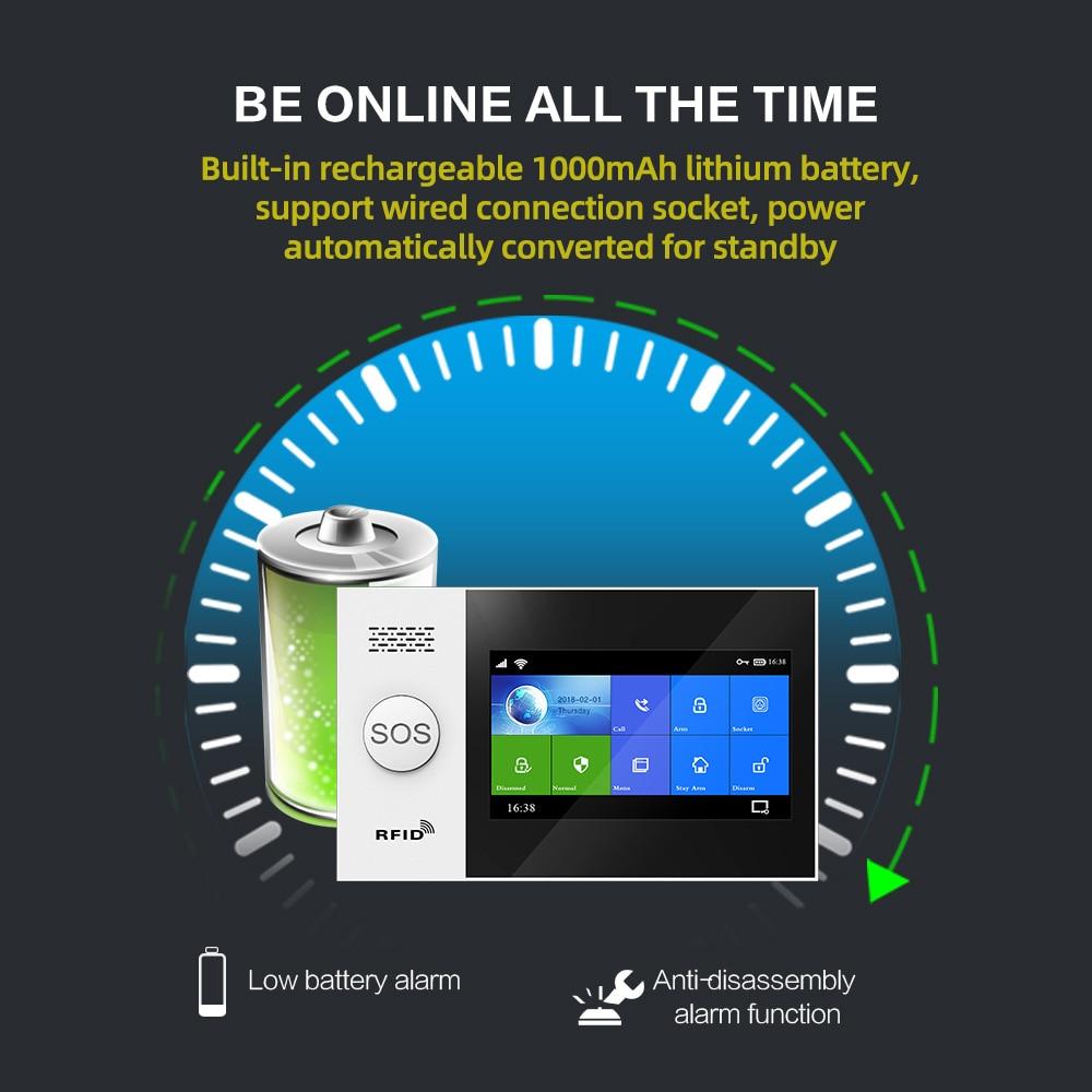 -107 Tuya Wireless Home WIFI GSM Home Security With Motion Detector Sensor Burglar Alarm System APP Control Support Alexa enlarge