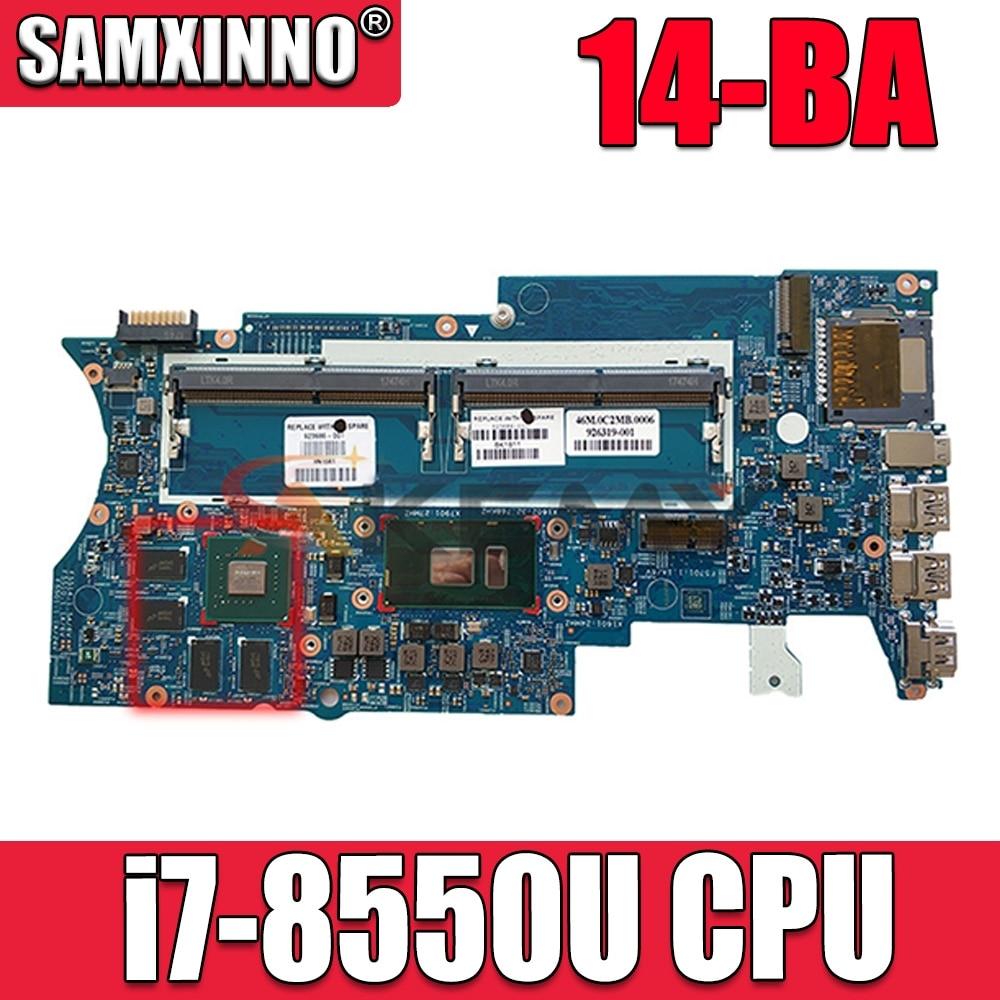 Akemy 939382-601 448.0BZ09.0011 لوحة الأم للكمبيوتر المحمول HP بافيليون X360 14-BA i7-8550U الكمبيوتر المحمول اختبارها بالكامل