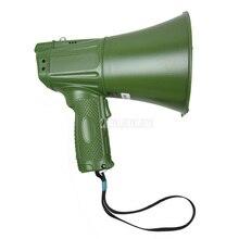 Армейский зеленый портативный ручной динамик, мегафон с ремешком, Громкий динамик для записи, уличный тренировочный гид, динамик с громкост...