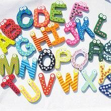 English/Russian/Number Wooden Fridge Magnet Alphabet Intelligence Development Toy Children Magnetic Sticker Classroom Office
