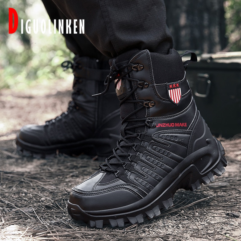 2020 Military Boots Men Combat Army Boots Men Winter Outdoor Tactical Boots Men Hiking Desert Ankle Hunting Autumn Big Size 47