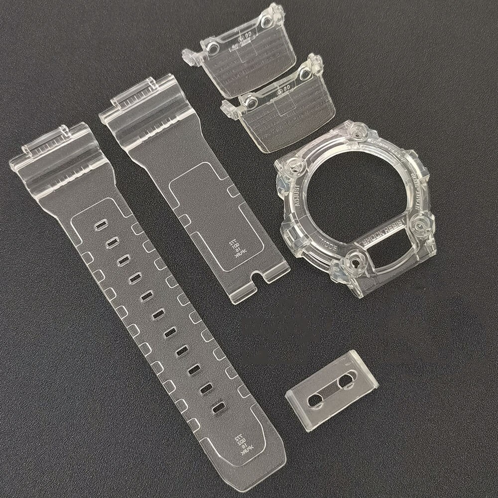for G7900 GW7900 Silicone Rubber Watch Strap Watchbands and Bezel Watch Band Transparent Watchband and Case enlarge