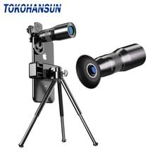 TOKOHANSUN оптический HD 25X металлический монокулярный телескоп объектив телефон телеобъектив селфи Штатив для iPhone 7 8 Xiaomi все смартфон