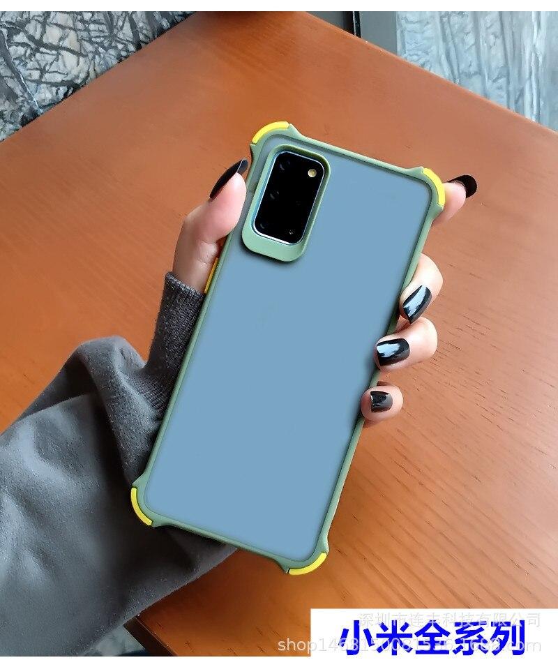 Mi 10pro contraste de Color piel teléfono móvil Shell Boxer resistente a las caídas PC Shell K30 Scrub funda protectora 7A para Red Mi Note89