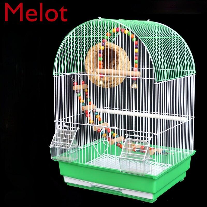 الراقية الفاخرة عالية الجودة قفص ببغاء قفص الطيور الكبيرة الحديثة المنزلية الحد الأدنى منزل نوع قفص الطيور