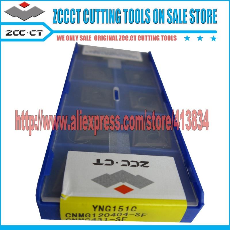 10pcs ZCC inserts CNMG120404 -SF YNG151C CNMG 1204 -SF zccct cermet insert Cutting tool for finish machining CNMG120404-SF