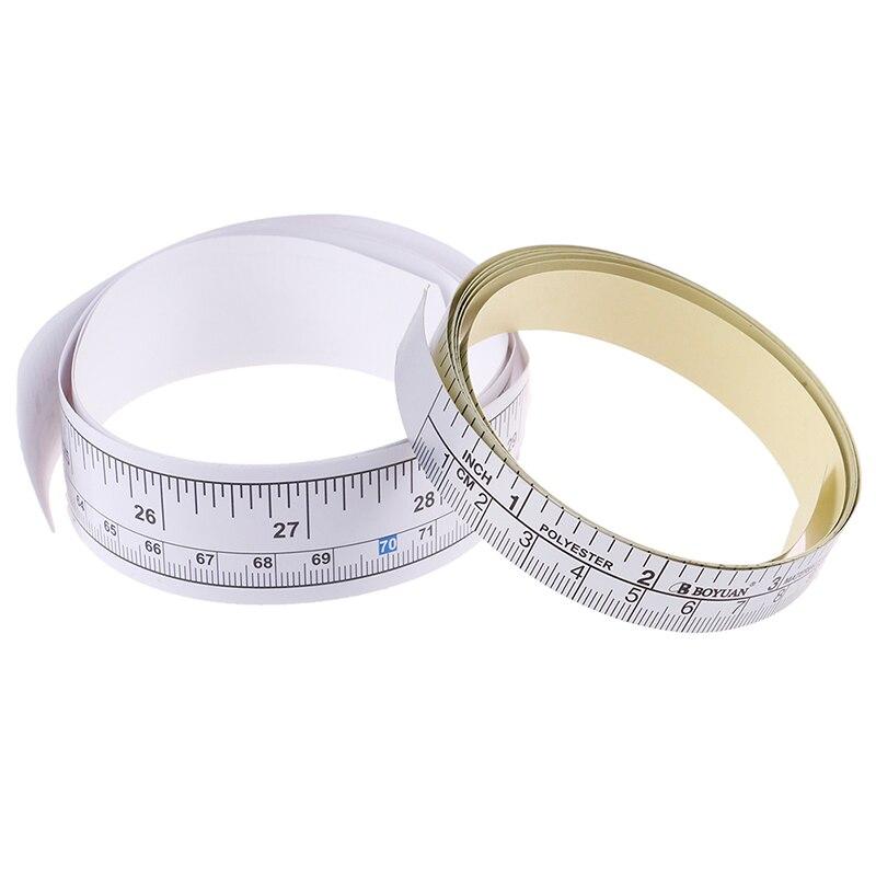 1 Pza 90/151cm cinta métrica autoadhesiva regla de vinilo para la máquina de coser pegatina de regla palo escala palo regla