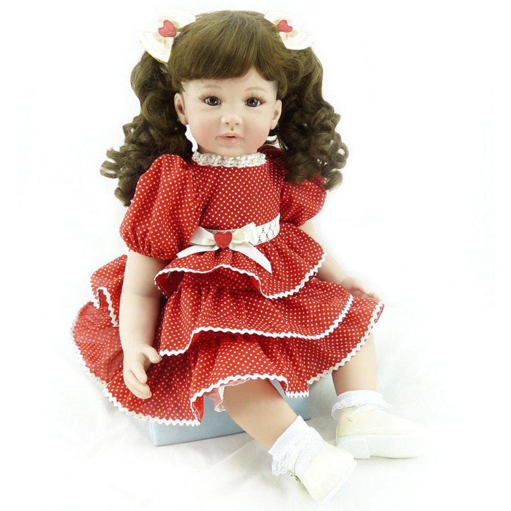 Rctown bebe reborn realista renascer bonecas do bebê 60 cm lifelike ponderada criança menina boneca vinil macio presente conjunto