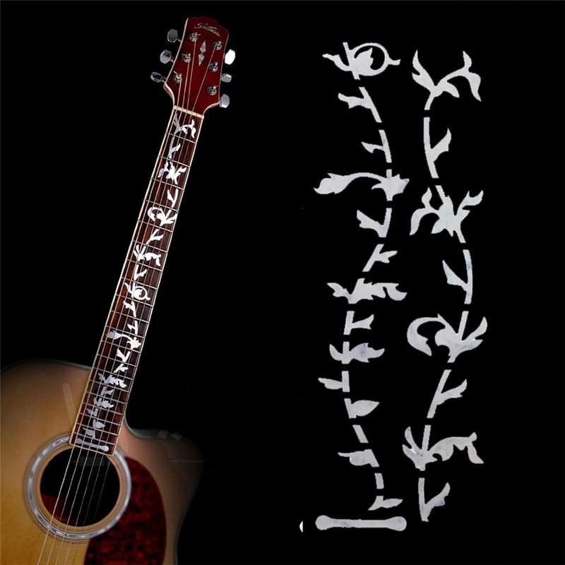 10 pçs guitarra traste inlay adesivos árvore da vida fretboard decalques/marcador para acústico guitarra elétrica traste pescoço