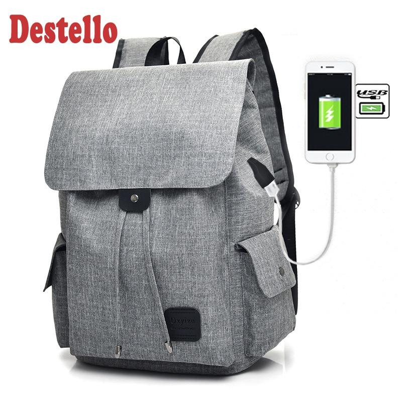 2020 Модный классический мужской женский рюкзак из полиэфирного волокна для ноутбука, рюкзак с защитой от кражи с Usb, повседневный рюкзак для ...