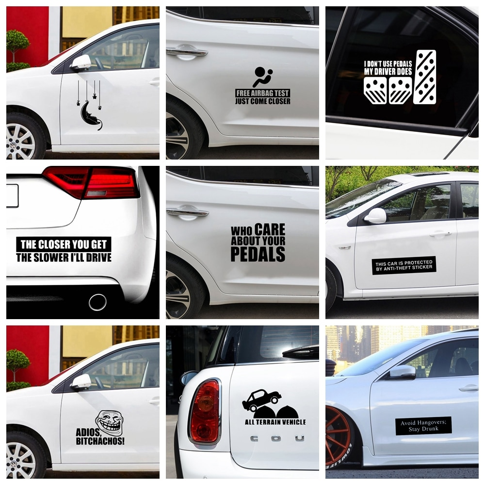 Funny Quote Car Sticker Decoartion Accessories Waterproof Removable Vinyl Decal Car Decor