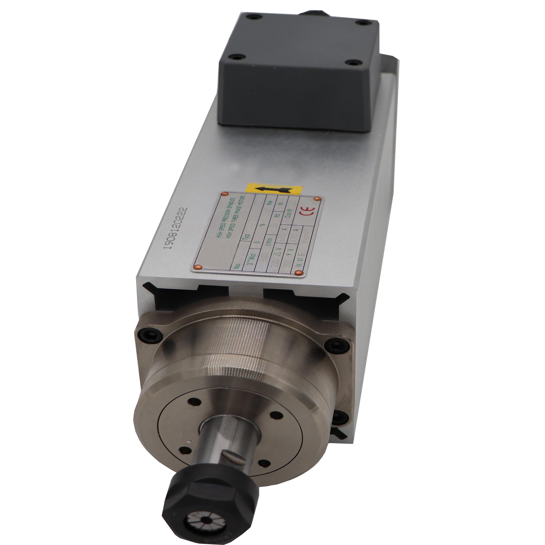 3000rpm 1.5KW de enfriamiento de aire del motor del husillo ER20/ER25 AC220V/AC380V IP54 3PH