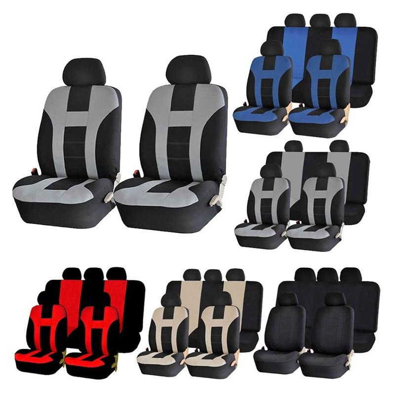 Conjunto completo de fundas de poliéster para asiento de coche, conjunto completo...