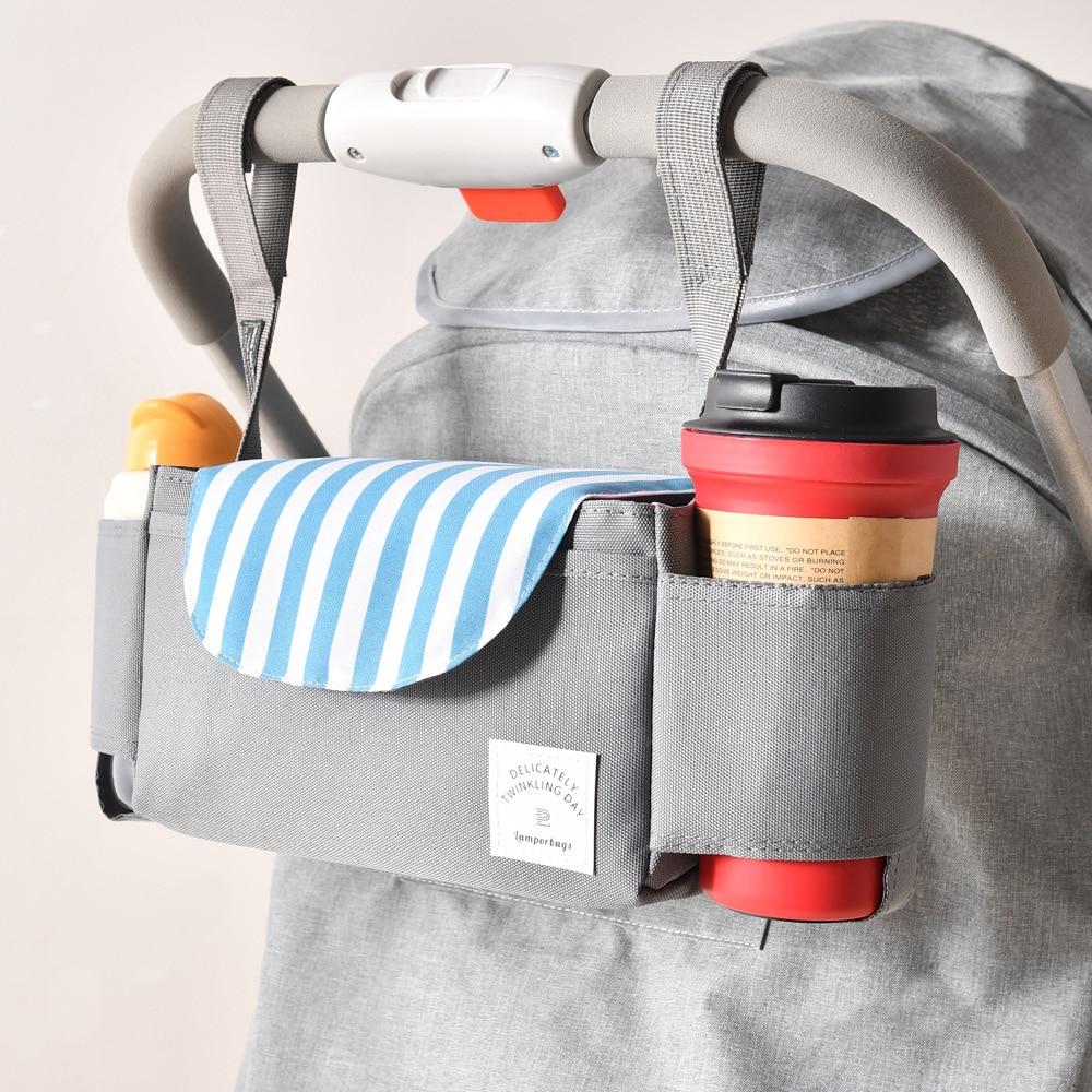 Baby Stroller Accessoris Bag New Cup Bag Stroller Organizer Baby Carriage Pram Buggy Cart Bottle Bag