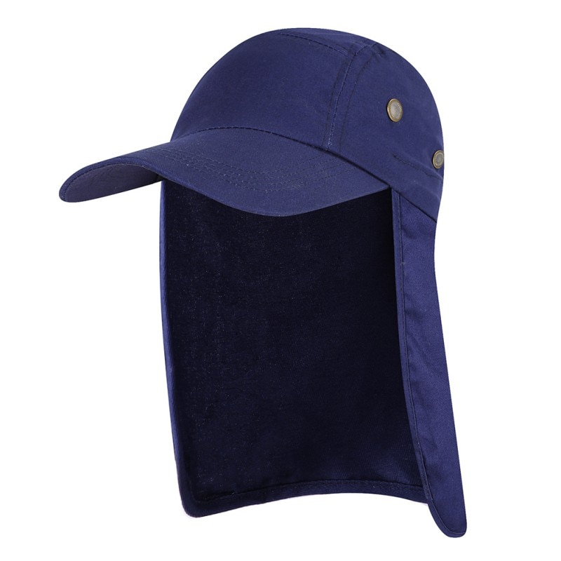 Unisex Fishing Hat Sun Visor Cap Hat Outdoor UPF 50 Sun Protection with Removable Ear Neck Flap Cover for Hiking camping cycling outdoor sport hiking camping visor hat uv protection face neck cover fishing sun protcet cap
