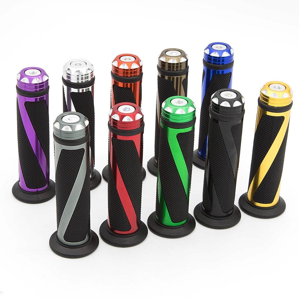 Empuñaduras universales de 22mm y 25mm, manillar de motocicleta, goma antideslizante, manillar de motocicleta