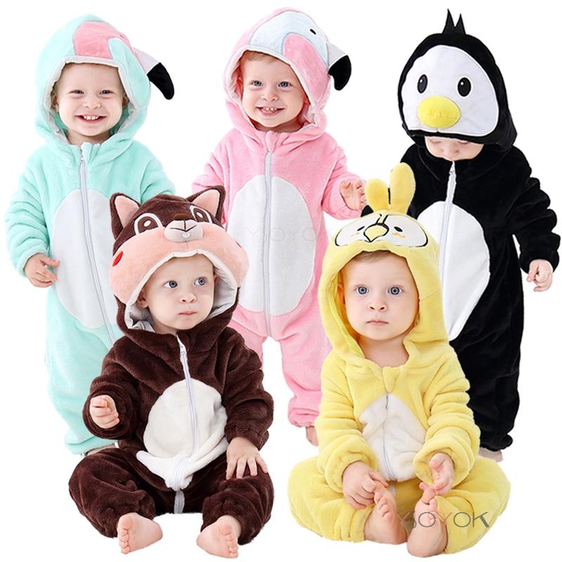 New Baby Pajamas Cartoon Stitch Clothes for Sleeping Girl Rompers Kids Baby Sleepwear Boy Penguin Panda Infant Children Jumpsuit