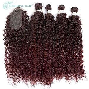 Синтетические волнистые волосы для наращивания, накладные африканские волосы, 20, 24, 26, 5 шт./лот, растягивающиеся волосы