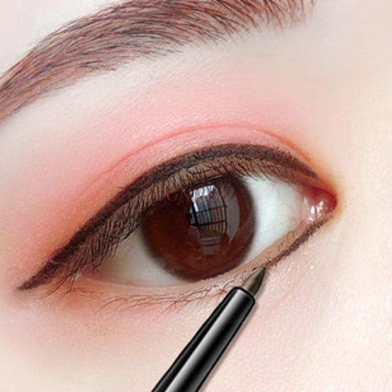 Delineador de ojos impermeable, delineador marrón, gel impermeable, no florece, crema antisudor de larga duración, no marca, para principiantes