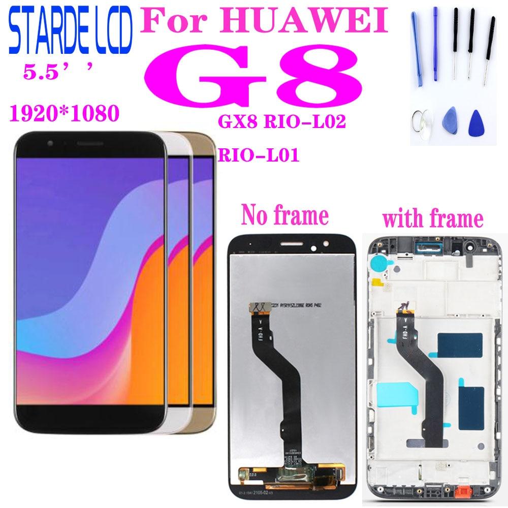 Para Huawei G8 GX8 RIO-L01 RIO-L02 D199, RIO-L03, pantalla LCD, montaje de digitalizador con pantalla táctil, reemplazo con marco maimang 4