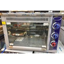 Cozinha industrial comercial bancada a gás 9 pcs capacidade pato pássaro peru frango rotisserie assado forno grill máquina