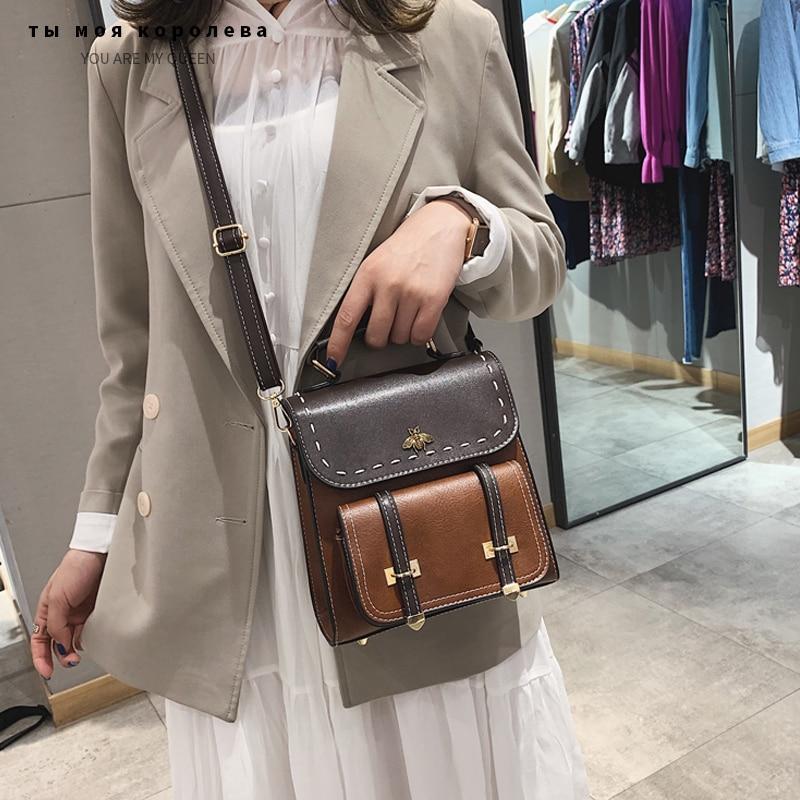 Bolso de hombro para mujer, de alta calidad, de piel sintética, estilo Simple y pijo, para chicas, Vintage, para mujer
