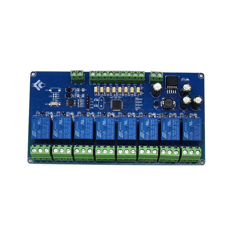 Módulo de relé Modbus RTU 8 CH, RS485 TTL, comunicación UART, módulo de relé de 7-30V de 8 canales de entrada