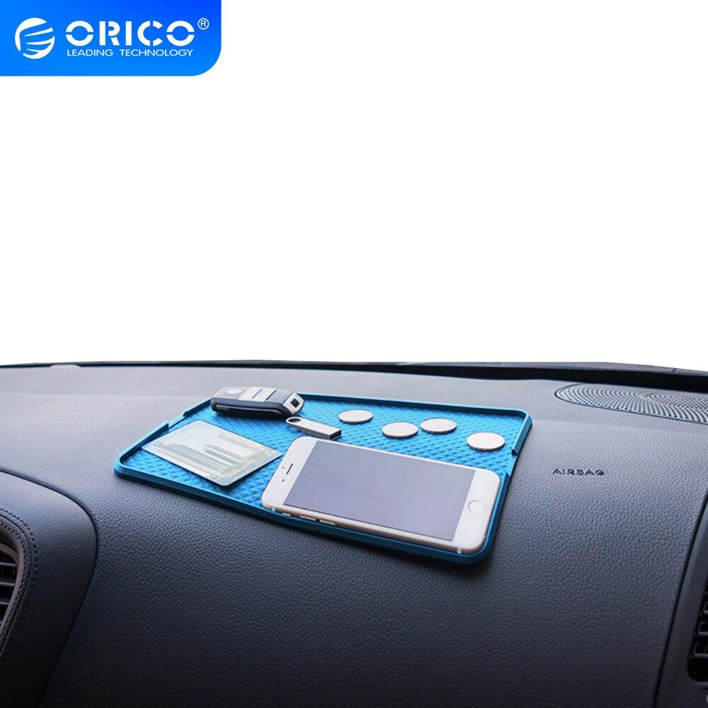 Противоскользящий силиконовый держатель телефона на приборной панели автомобиля, коврик для хранения автомобиля, смартфона с нескользяще...