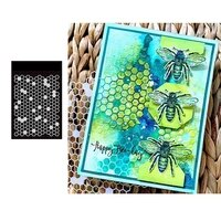 small stencil honeycomb for scrapbooking stamp photo album decorative embossing cut die diy paper cards embossing 2021 new