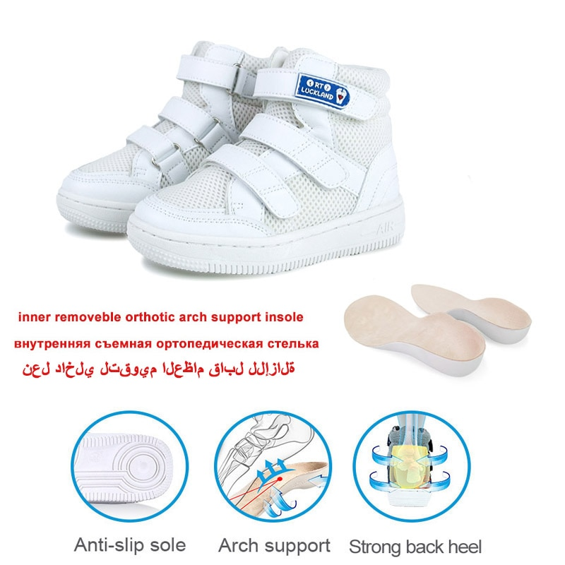 Ortoluckland Boys Running Shoes Girls Children White Orthopedic Footwear For Kid Toddler Demi Chunky Casual Ankle Bootie 8 Years enlarge